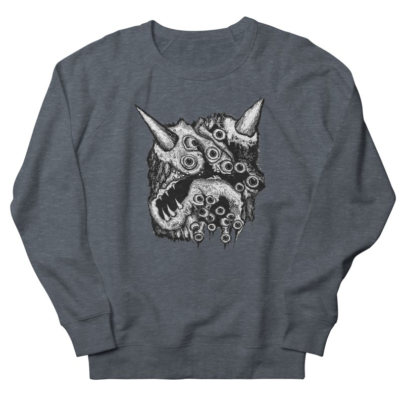 Monster Eyeball Demon Woodcut Men's Sweatshirt by stampedepress's Artist Shop