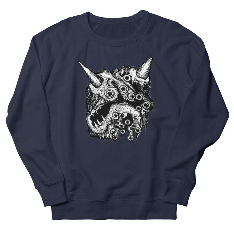 Monster Eyeball Demon Woodcut Men's Sweatshirt by stampedepress's Artist Shop