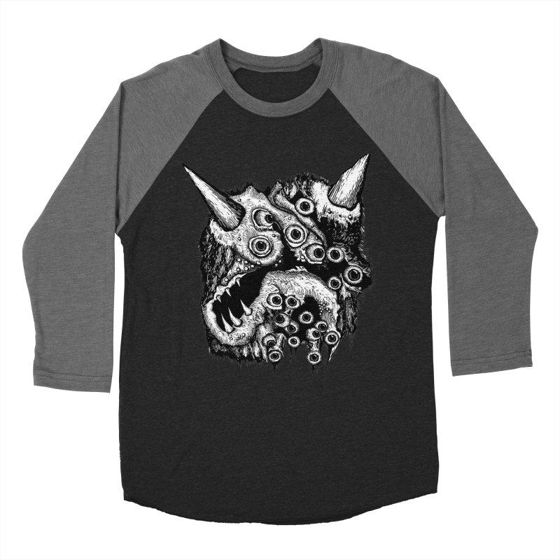 Monster Eyeball Demon Woodcut Women's Baseball Triblend T-Shirt by stampedepress's Artist Shop