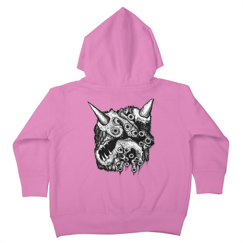 Monster Eyeball Demon Woodcut Kids Toddler Zip-Up Hoody by stampedepress's Artist Shop