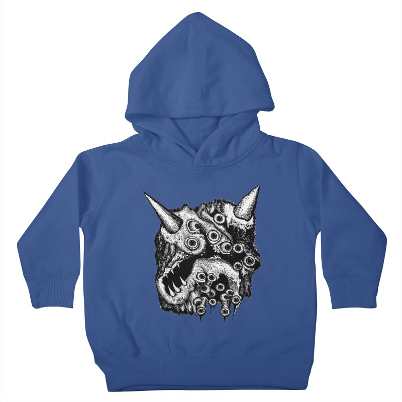Monster Eyeball Demon Woodcut Kids Toddler Pullover Hoody by stampedepress's Artist Shop