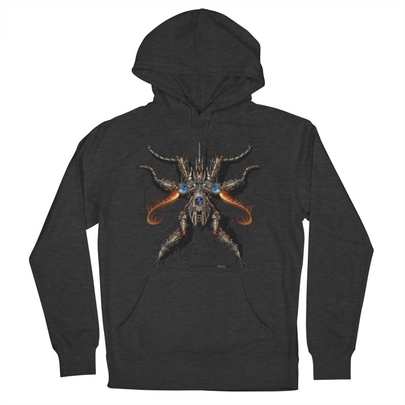 Mech Mosquito Pentagram of Evil Data Men's French Terry Pullover Hoody by stampedepress's Artist Shop