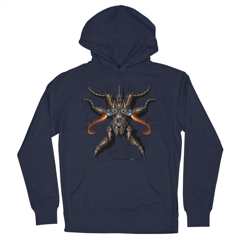 Mech Mosquito Pentagram of Evil Data Men's Pullover Hoody by stampedepress's Artist Shop