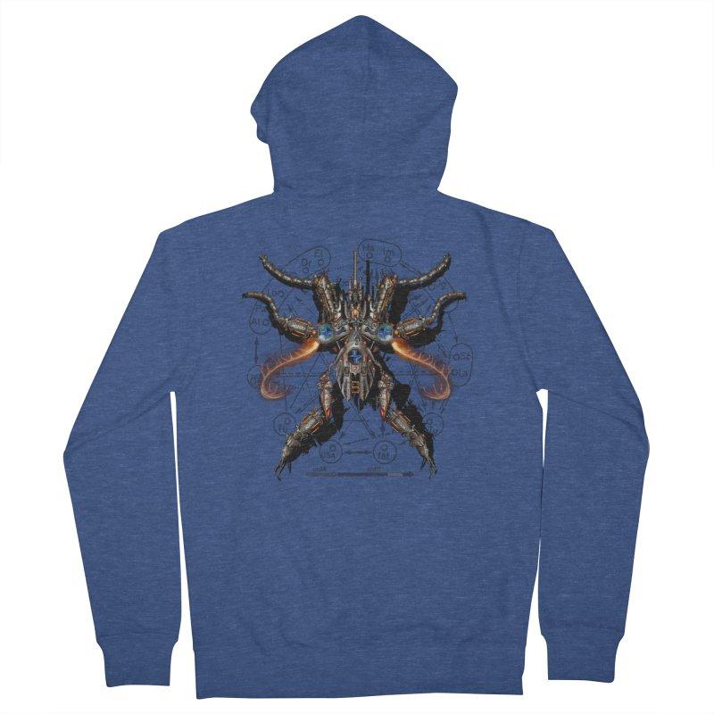 Mech Mosquito Pentagram of Evil Data Women's French Terry Zip-Up Hoody by stampedepress's Artist Shop