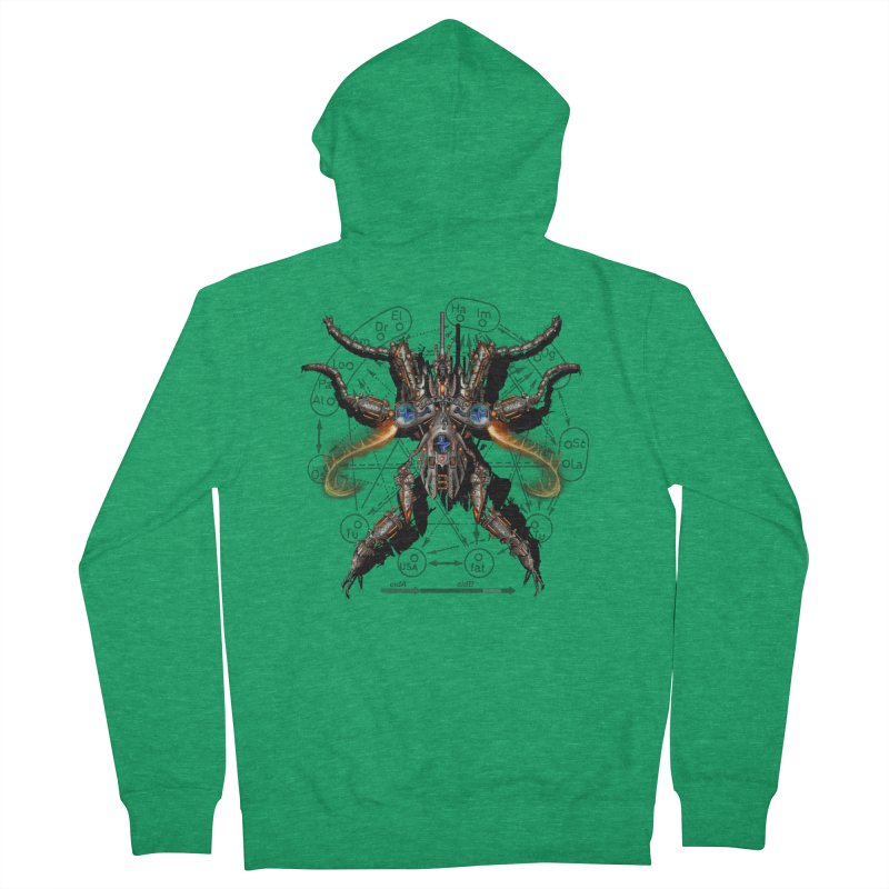 Mech Mosquito Pentagram of Evil Data Men's Zip-Up Hoody by stampedepress's Artist Shop
