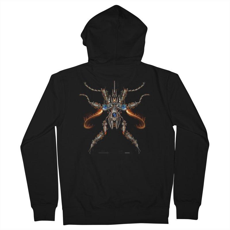 Mech Mosquito Pentagram of Evil Data Men's Zip-Up Hoody by stampedepress's Artist Shop
