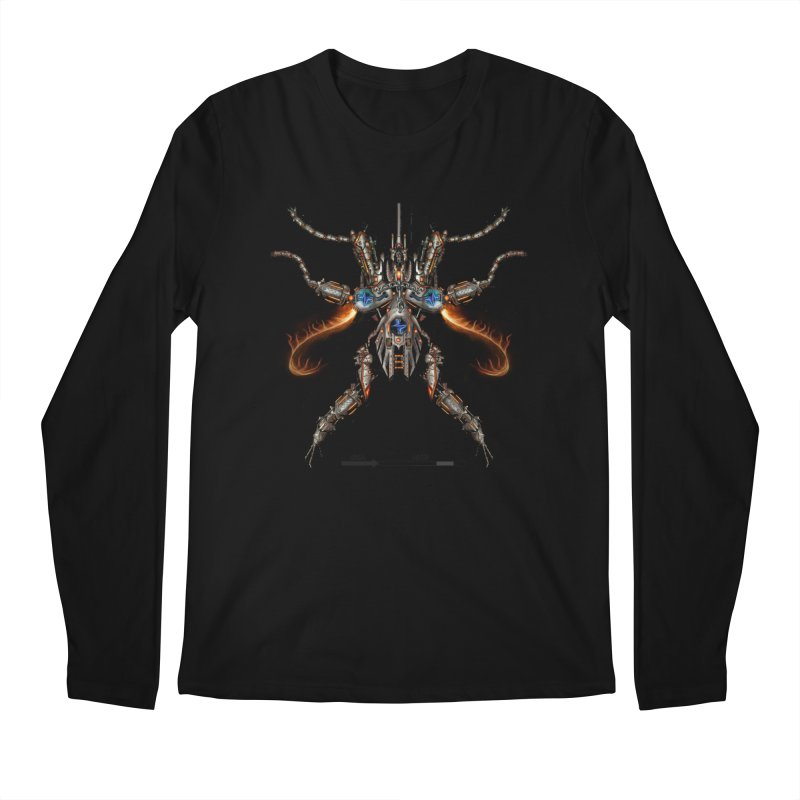 Mech Mosquito Pentagram of Evil Data Men's Longsleeve T-Shirt by stampedepress's Artist Shop
