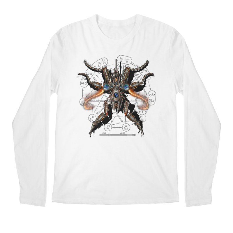 Mech Mosquito Pentagram of Evil Data Men's Regular Longsleeve T-Shirt by stampedepress's Artist Shop