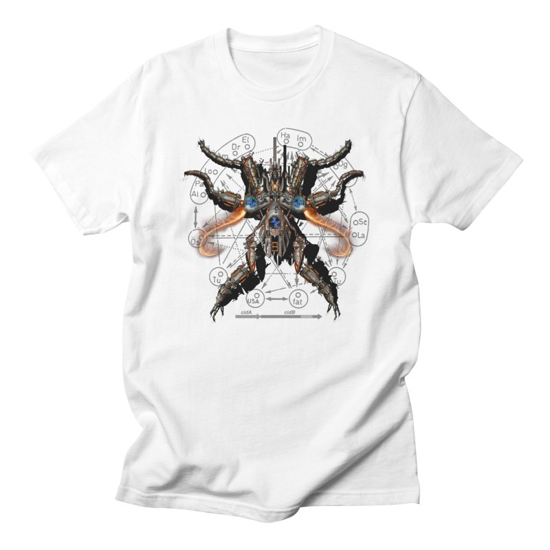 Mech Mosquito Pentagram of Evil Data Men's T-shirt by stampedepress's Artist Shop