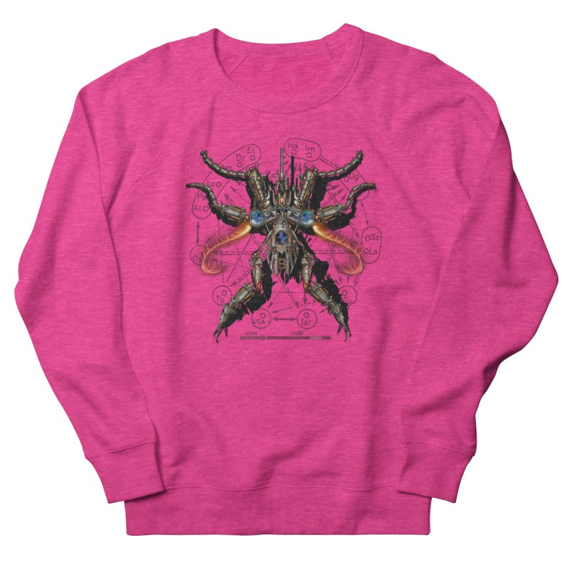 Mech Mosquito Pentagram of Evil Data Women's French Terry Sweatshirt by stampedepress's Artist Shop