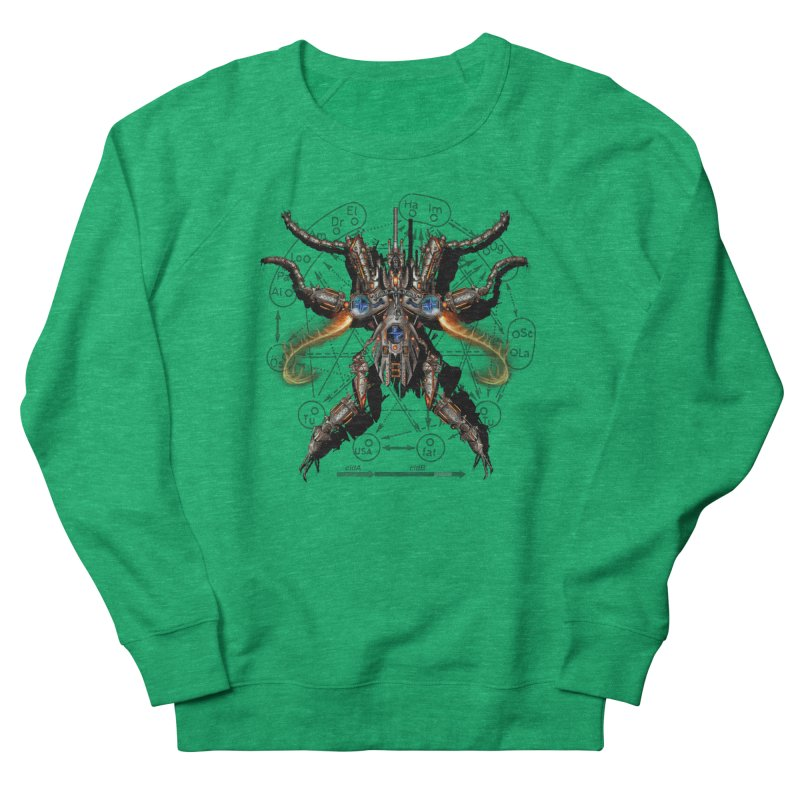 Mech Mosquito Pentagram of Evil Data Men's French Terry Sweatshirt by stampedepress's Artist Shop