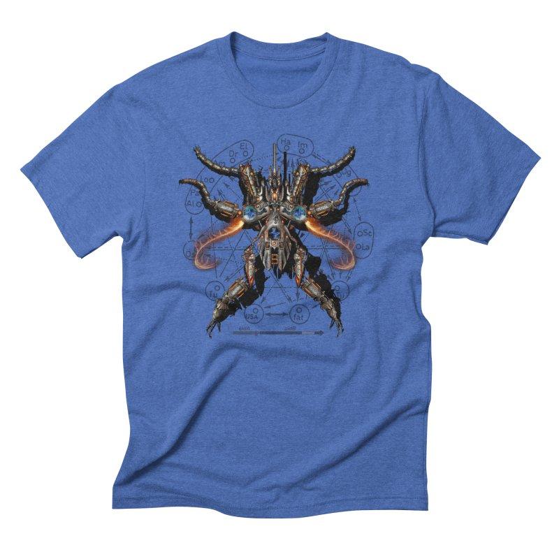 Mech Mosquito Pentagram of Evil Data Men's Triblend T-Shirt by stampedepress's Artist Shop