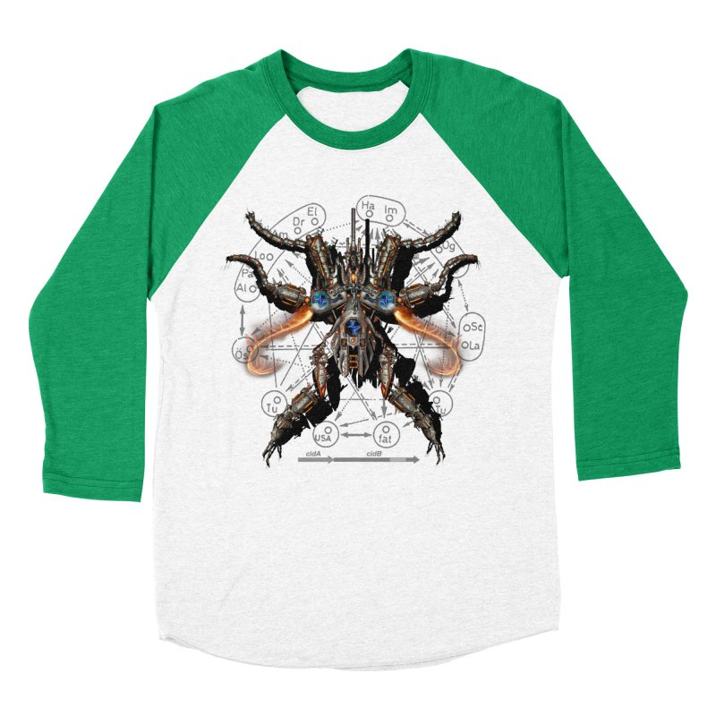 Mech Mosquito Pentagram of Evil Data Women's Baseball Triblend Longsleeve T-Shirt by stampedepress's Artist Shop