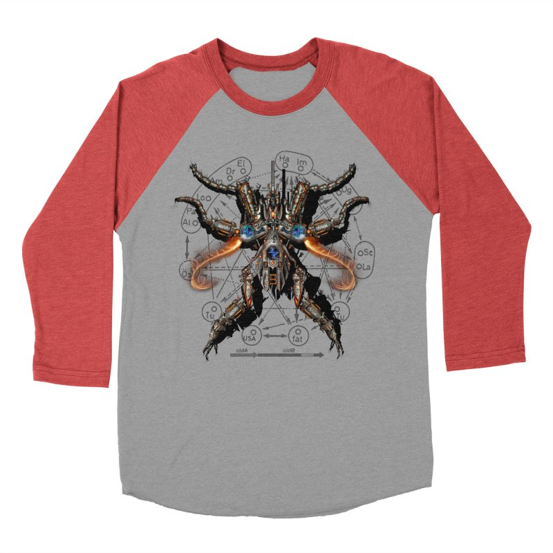 Mech Mosquito Pentagram of Evil Data Women's Baseball Triblend T-Shirt by stampedepress's Artist Shop