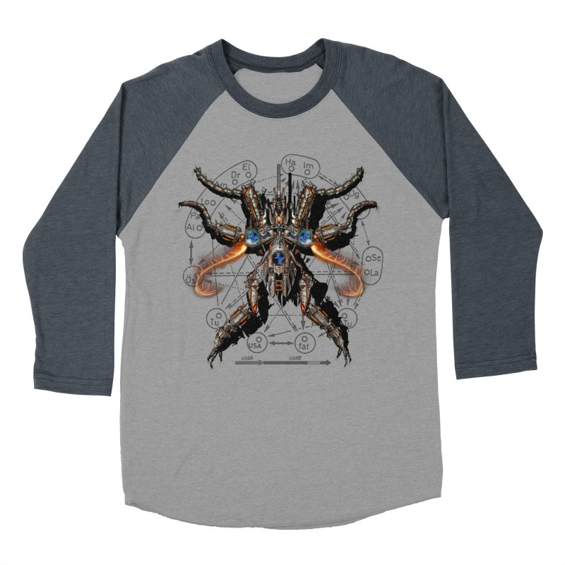 Mech Mosquito Pentagram of Evil Data Men's Baseball Triblend T-Shirt by stampedepress's Artist Shop