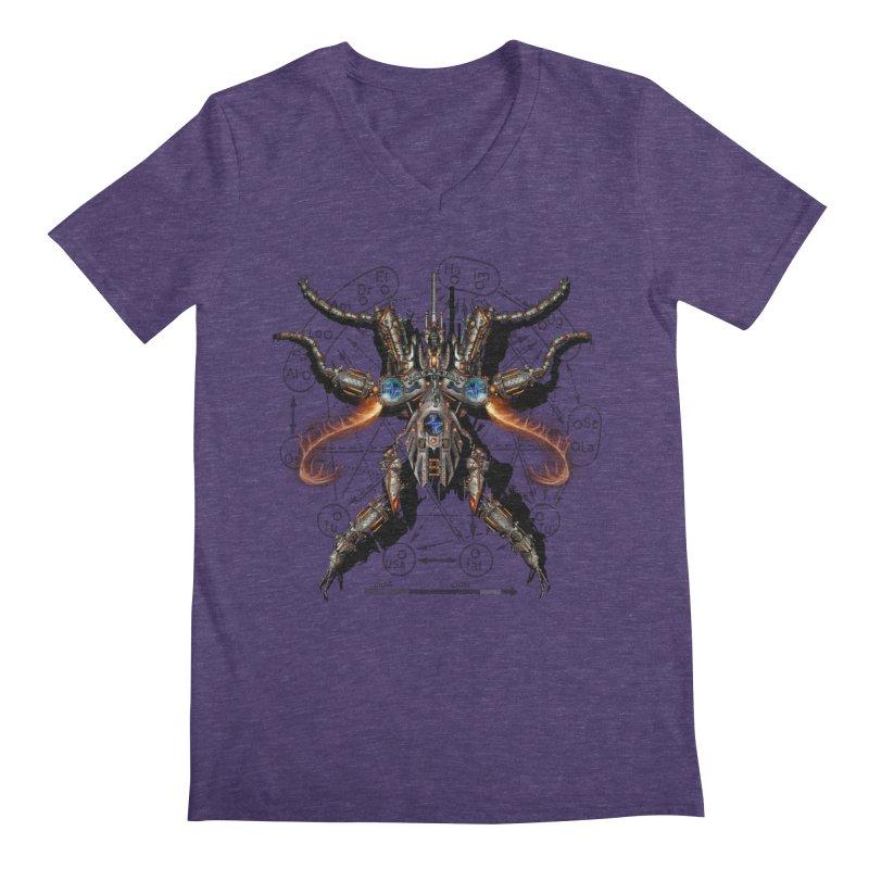 Mech Mosquito Pentagram of Evil Data Men's V-Neck by stampedepress's Artist Shop