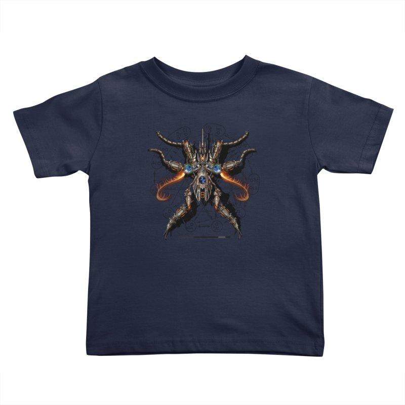 Mech Mosquito Pentagram of Evil Data Kids Toddler T-Shirt by stampedepress's Artist Shop