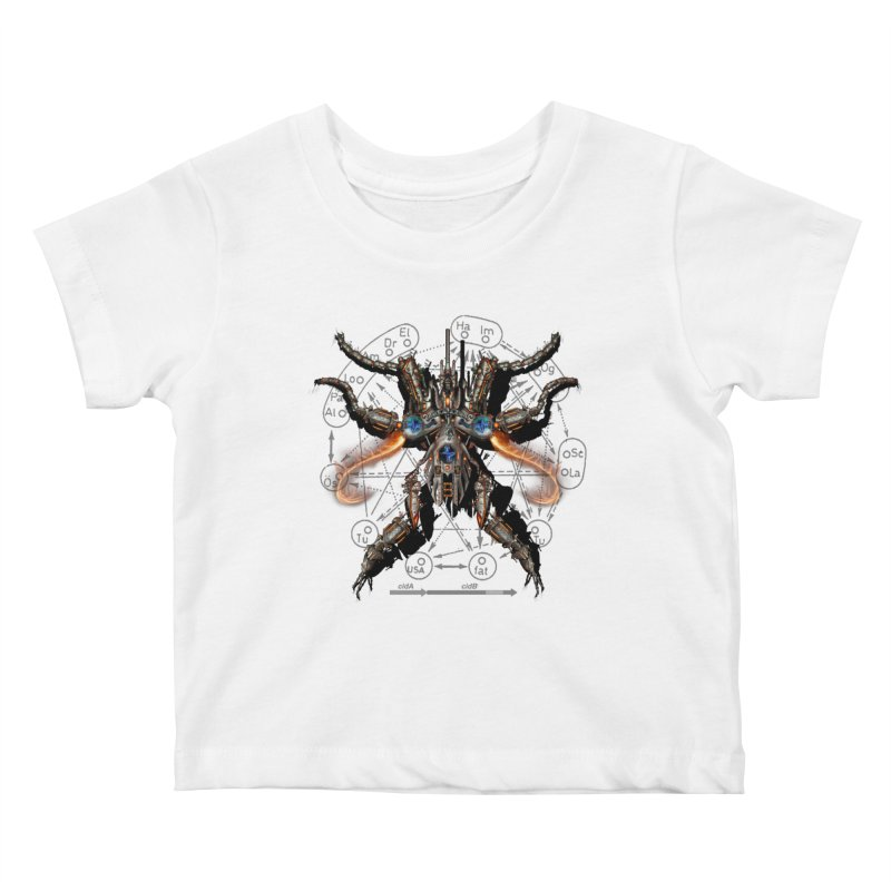 Mech Mosquito Pentagram of Evil Data Kids Baby T-Shirt by stampedepress's Artist Shop
