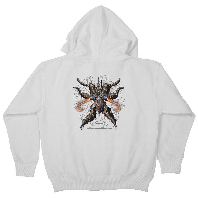 Mech Mosquito Pentagram of Evil Data Kids Zip-Up Hoody by stampedepress's Artist Shop