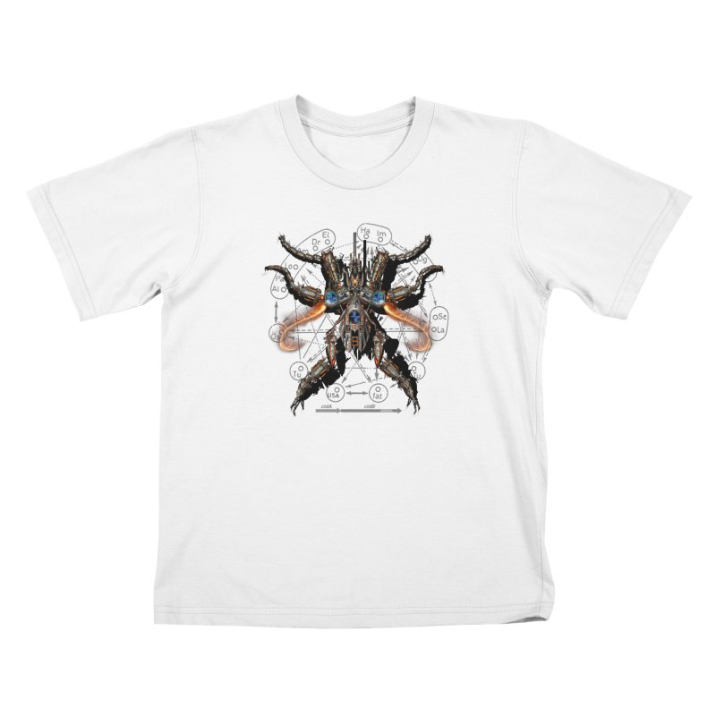 Mech Mosquito Pentagram of Evil Data Kids T-Shirt by stampedepress's Artist Shop