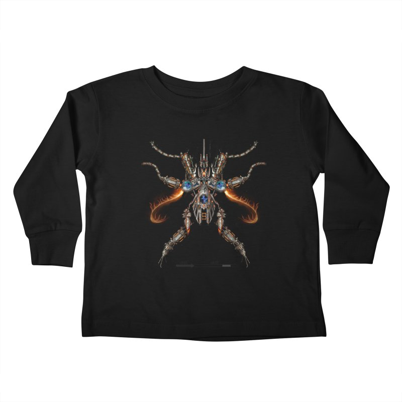 Mech Mosquito Pentagram of Evil Data Kids Toddler Longsleeve T-Shirt by stampedepress's Artist Shop