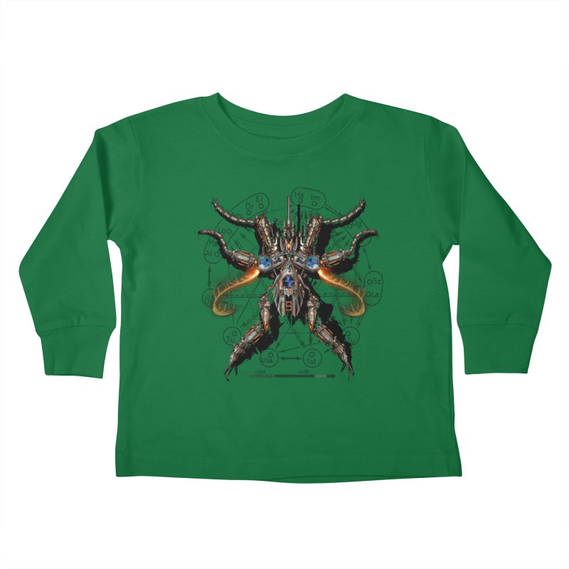 Mech Mosquito Pentagram of Evil Data Kids Toddler Longsleeve T-Shirt by stampedepress's Artist Shop