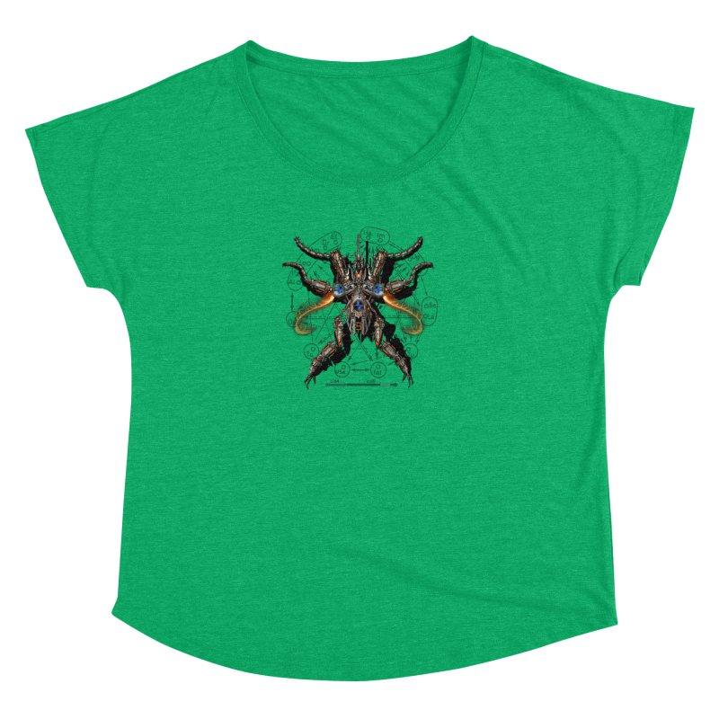 Mech Mosquito Pentagram of Evil Data Women's Dolman Scoop Neck by stampedepress's Artist Shop
