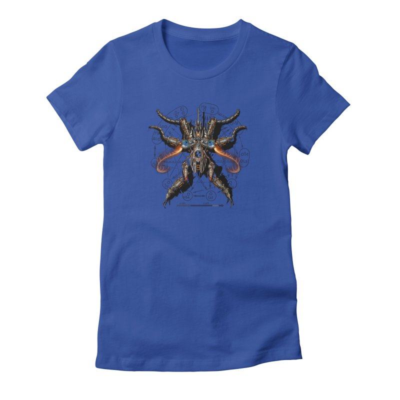 Mech Mosquito Pentagram of Evil Data Women's Fitted T-Shirt by stampedepress's Artist Shop