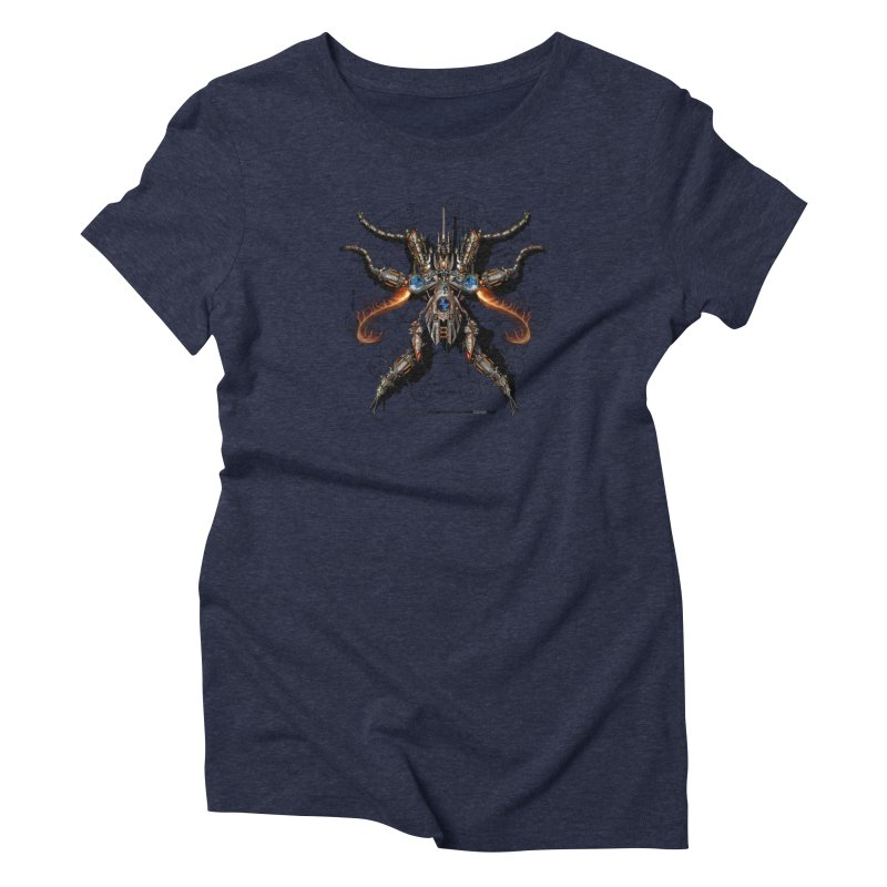 Mech Mosquito Pentagram of Evil Data Women's Triblend T-Shirt by stampedepress's Artist Shop
