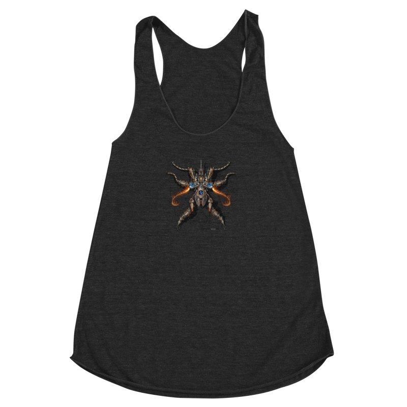 Mech Mosquito Pentagram of Evil Data Women's Racerback Triblend Tank by stampedepress's Artist Shop