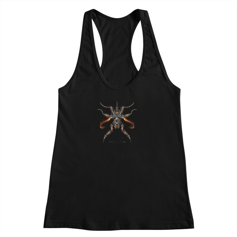 Mech Mosquito Pentagram of Evil Data Women's Racerback Tank by stampedepress's Artist Shop
