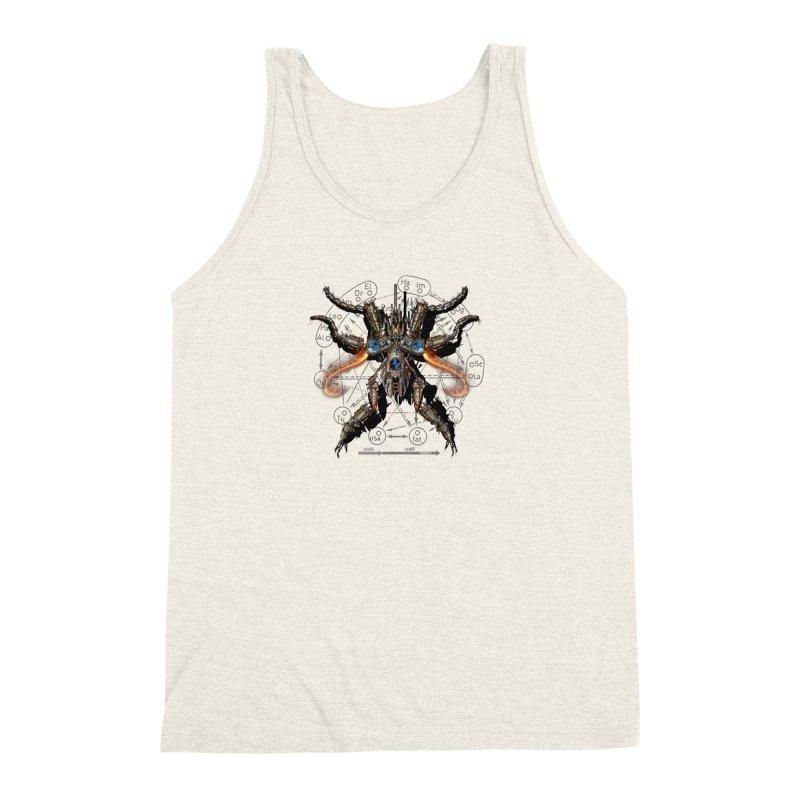 Mech Mosquito Pentagram of Evil Data Men's Triblend Tank by stampedepress's Artist Shop