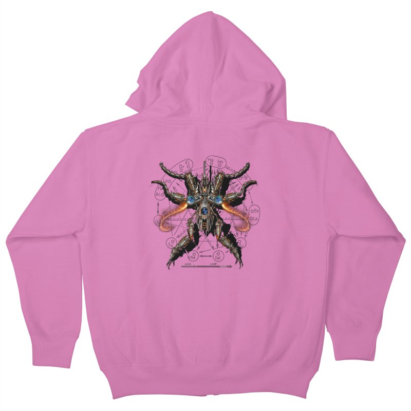 Mech Mosquito Pentagram of Evil Data Kids Zip-Up Hoody by stampedepress's Artist Shop