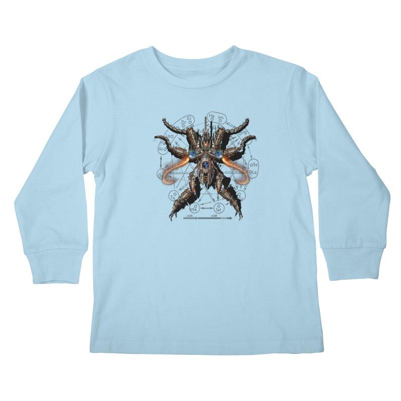 Mech Mosquito Pentagram of Evil Data Kids Longsleeve T-Shirt by stampedepress's Artist Shop