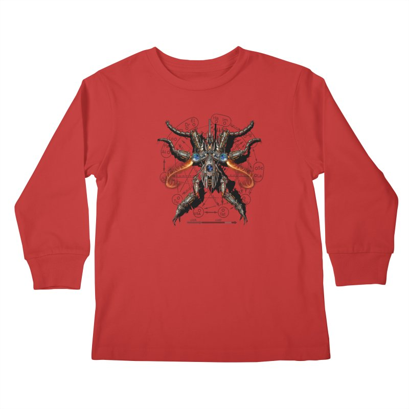 Mech Mosquito Pentagram of Evil Data Kids Longsleeve T-Shirt by stampedepress's Artist Shop