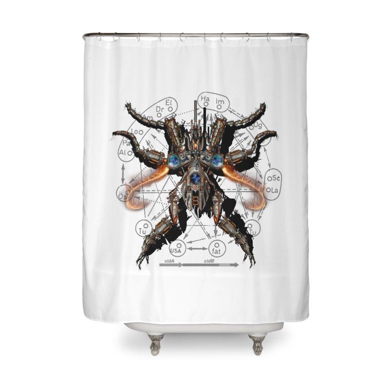Mech Mosquito Pentagram of Evil Data Home Shower Curtain by stampedepress's Artist Shop