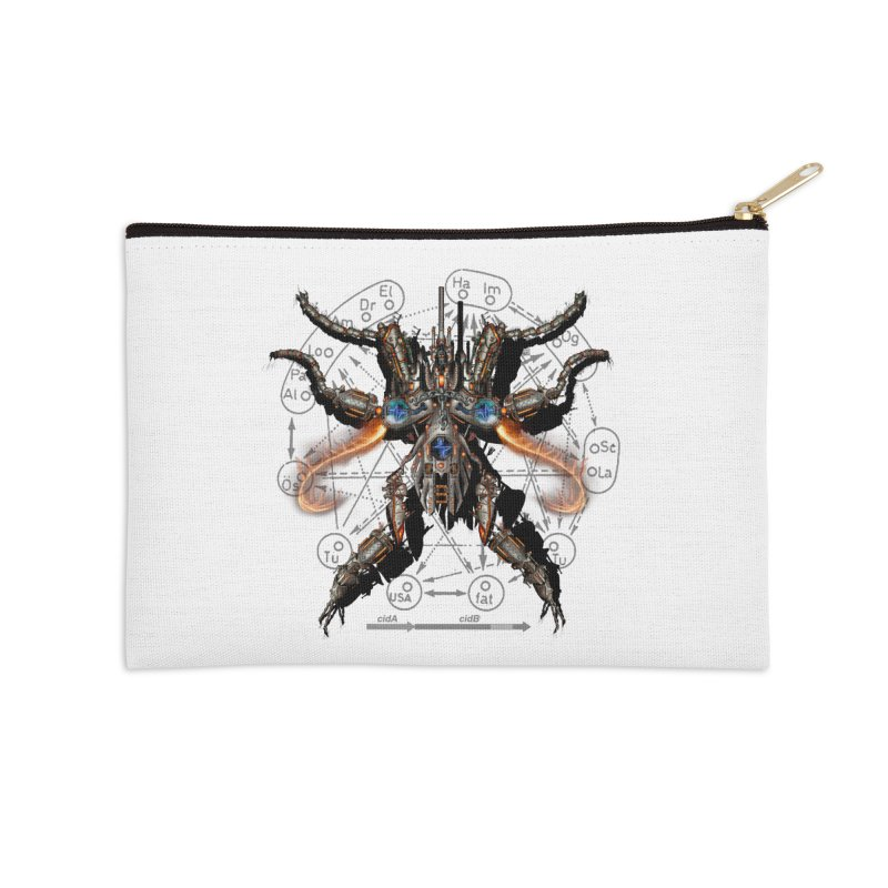 Mech Mosquito Pentagram of Evil Data Accessories Zip Pouch by stampedepress's Artist Shop
