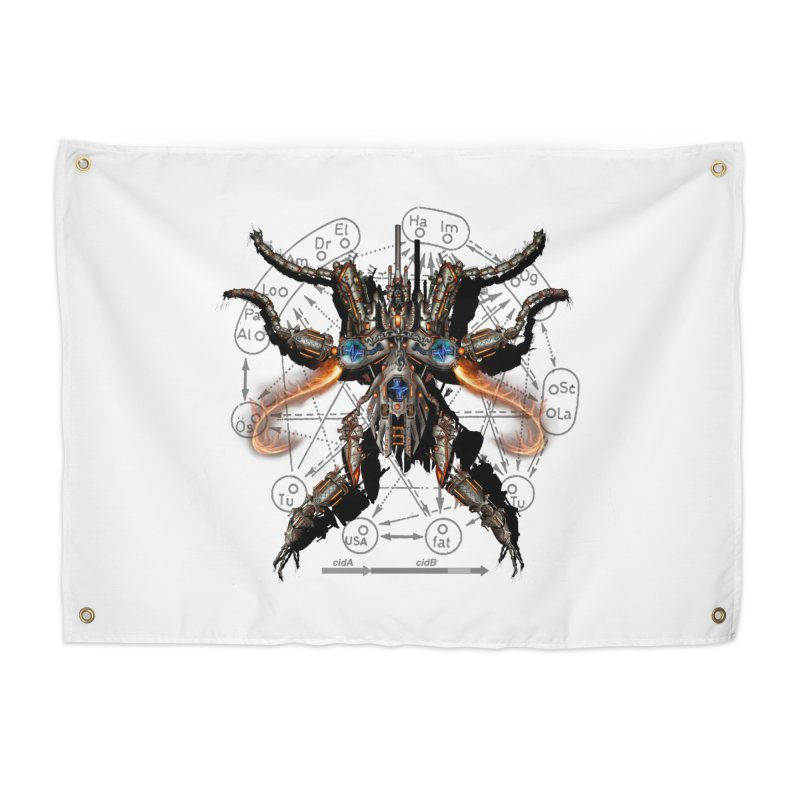 Mech Mosquito Pentagram of Evil Data Home Tapestry by stampedepress's Artist Shop