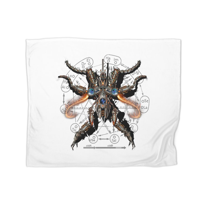 Mech Mosquito Pentagram of Evil Data Home Blanket by stampedepress's Artist Shop