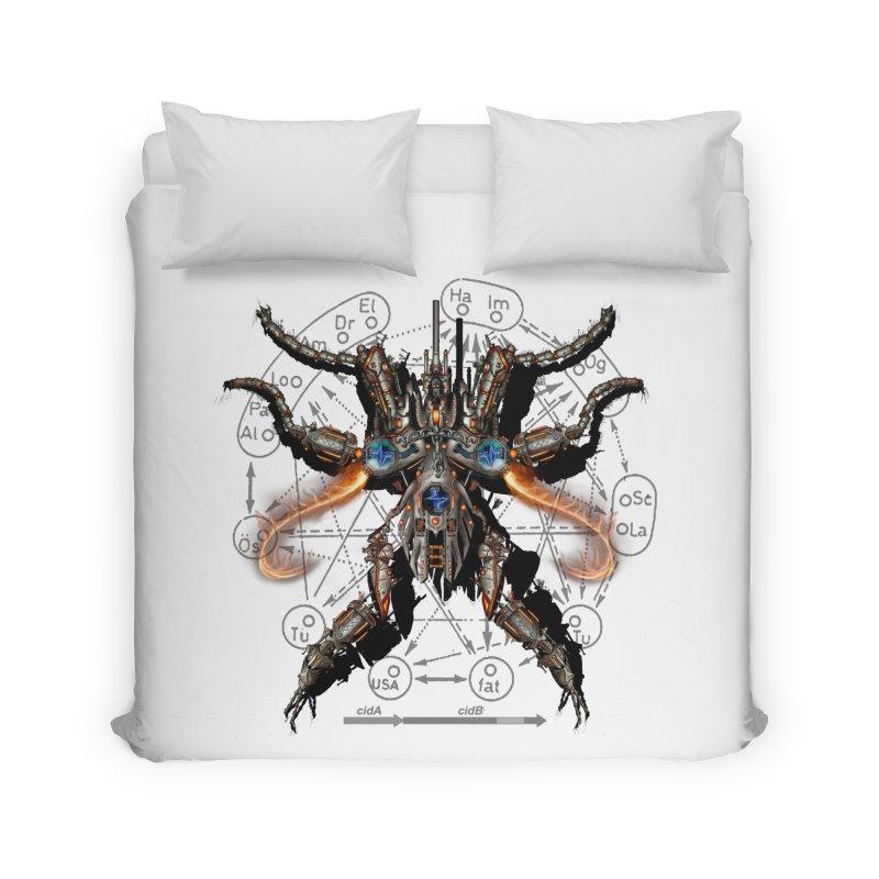 Mech Mosquito Pentagram of Evil Data Home Duvet by stampedepress's Artist Shop