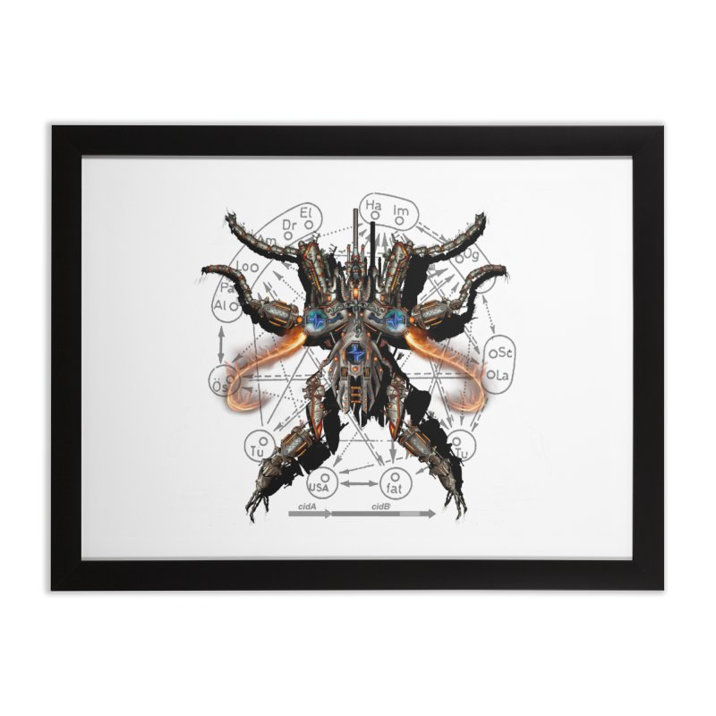 Mech Mosquito Pentagram of Evil Data Home Framed Fine Art Print by stampedepress's Artist Shop