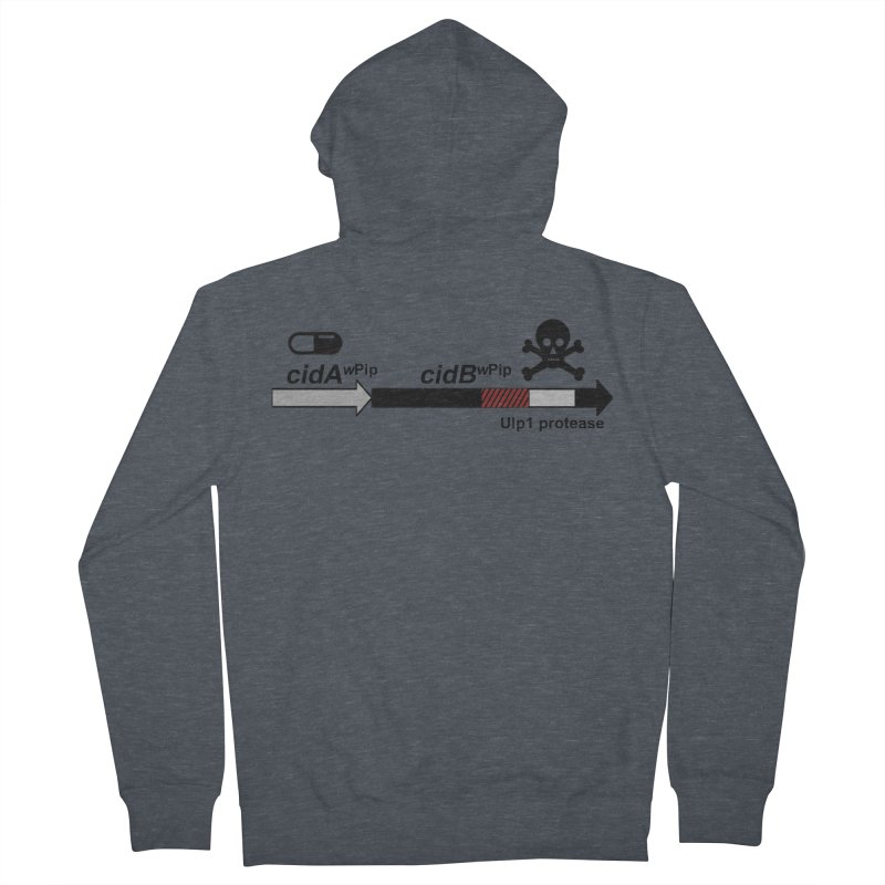 Wolbachia CI Inducing Deubiquitylating Operon Hypothesis T-Shirt of Scienctific Dominance! Women's French Terry Zip-Up Hoody by stampedepress's Artist Shop