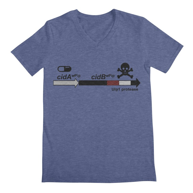 Wolbachia CI Inducing Deubiquitylating Operon Hypothesis T-Shirt of Scienctific Dominance! Men's V-Neck by stampedepress's Artist Shop