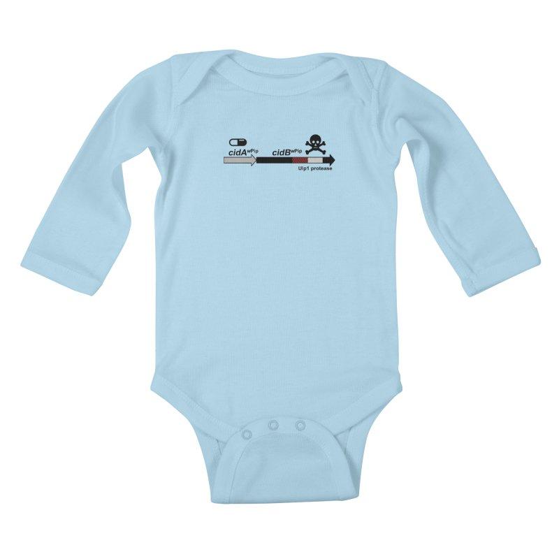 Wolbachia CI Inducing Deubiquitylating Operon Hypothesis T-Shirt of Scienctific Dominance! Kids Baby Longsleeve Bodysuit by stampedepress's Artist Shop