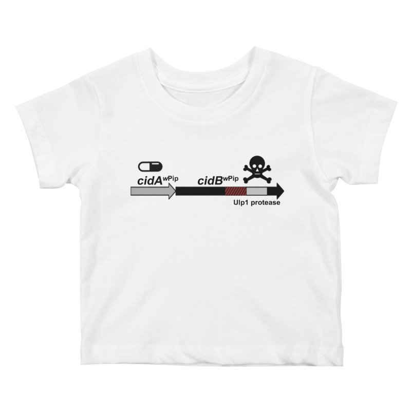 Wolbachia CI Inducing Deubiquitylating Operon Hypothesis T-Shirt of Scienctific Dominance! Kids Baby T-Shirt by stampedepress's Artist Shop