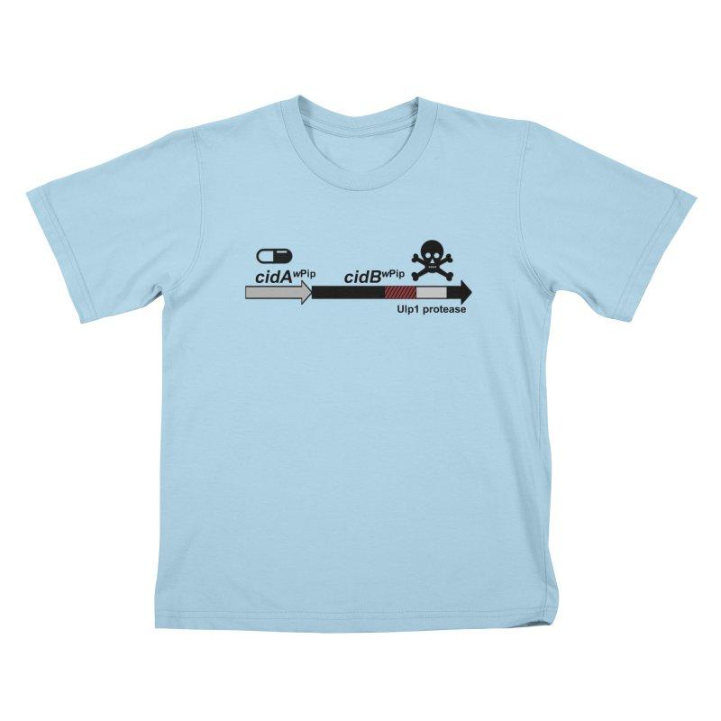 Wolbachia CI Inducing Deubiquitylating Operon Hypothesis T-Shirt of Scienctific Dominance! Kids T-Shirt by stampedepress's Artist Shop