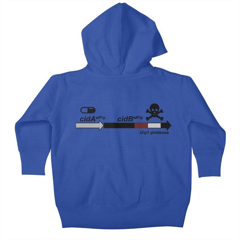 Wolbachia CI Inducing Deubiquitylating Operon Hypothesis T-Shirt of Scienctific Dominance! Kids Baby Zip-Up Hoody by stampedepress's Artist Shop