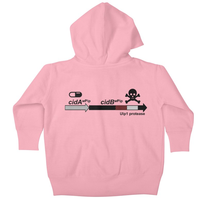 Wolbachia CI Inducing Deubiquitylating Operon Hypothesis T-Shirt of Scienctific Dominance! Kids Baby Zip-Up Hoody by stampedepress's Artist Shop