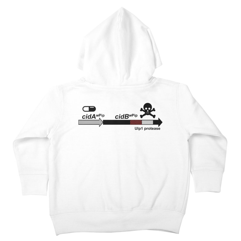 Wolbachia CI Inducing Deubiquitylating Operon Hypothesis T-Shirt of Scienctific Dominance! Kids Toddler Zip-Up Hoody by stampedepress's Artist Shop