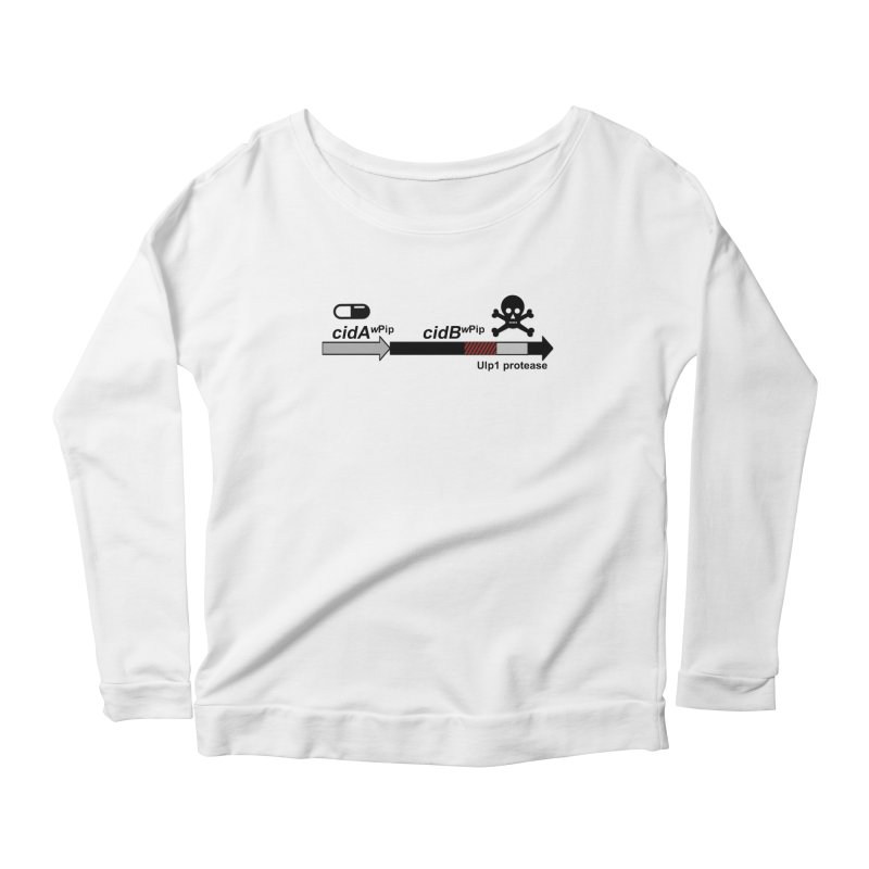 Wolbachia CI Inducing Deubiquitylating Operon Hypothesis T-Shirt of Scienctific Dominance! Women's Longsleeve Scoopneck  by stampedepress's Artist Shop
